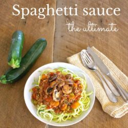 low carb spaghetti sauce recipe