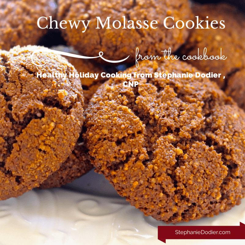 healthy chewy molasses cookie recipe