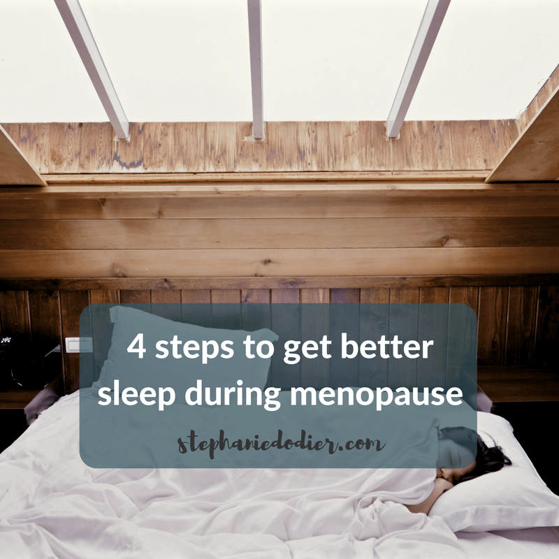 Solution to better sleep during menopause