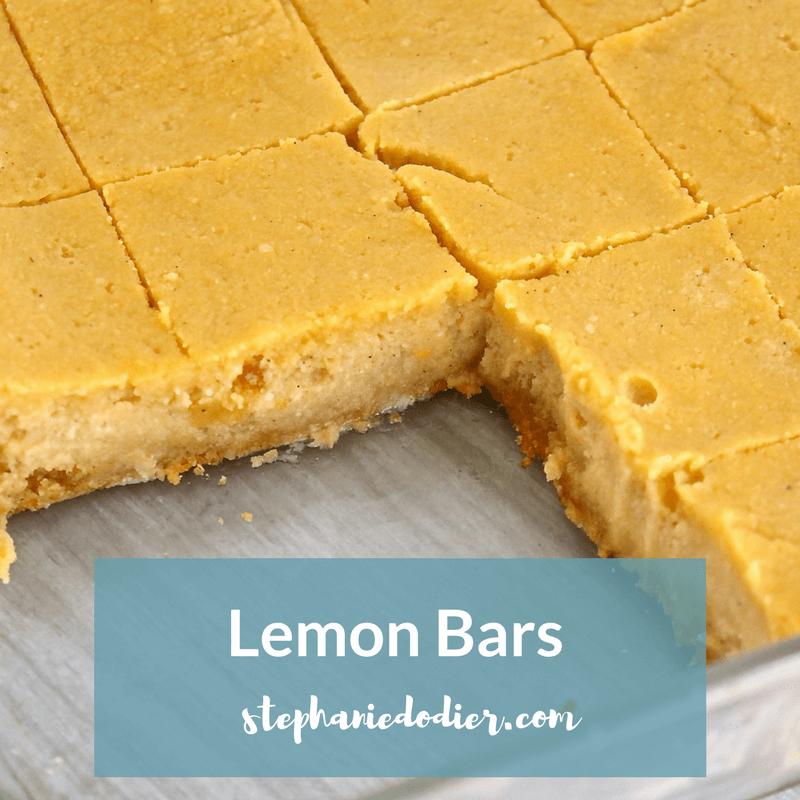 healthy and easy lemon bar recipe