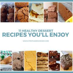 healthy dessert recipes title
