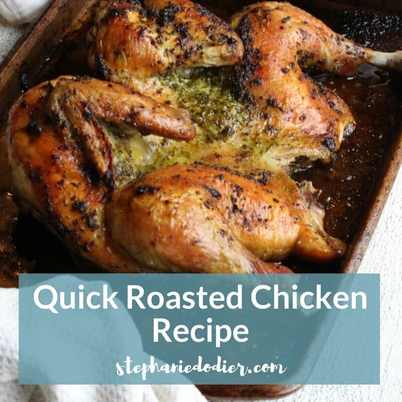 quick roasted chicken recipe title