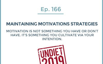 166-Undiet 2019: Strategies to Maintain Motivation and Consistency