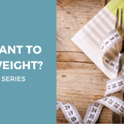You want to lose weight
