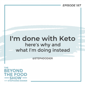 I quit Keto-Stephanie Dodier