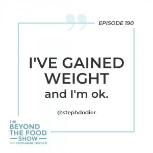 Weight gain-Stephanie Dodier