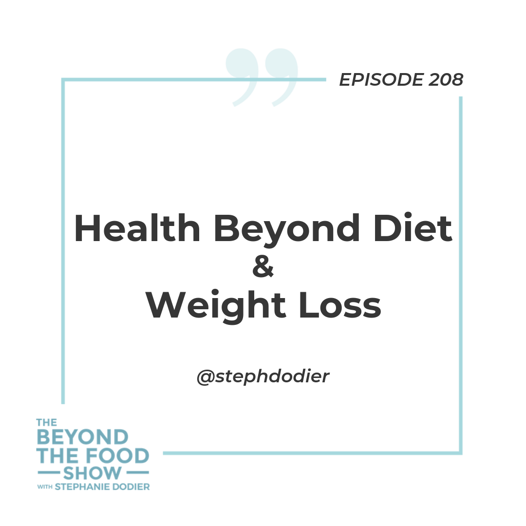Health beyond diet & weight loss