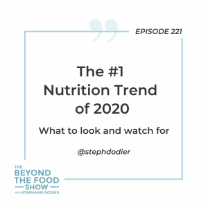 221-Nutrition Trend of 2020 -Stephanie Dodier