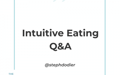 246-Intuitive Eating Listeners Q&A