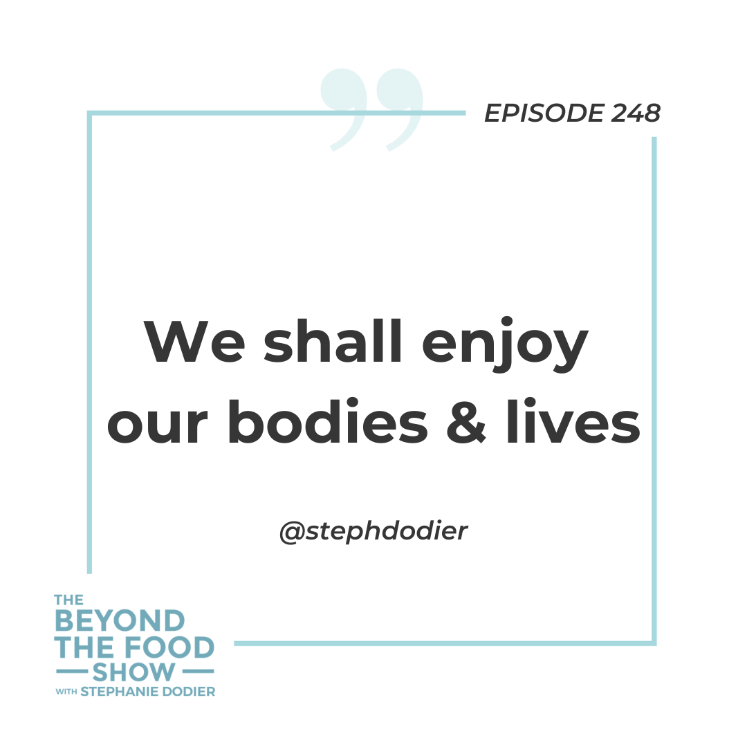 We shall enjoy our bodies & lives