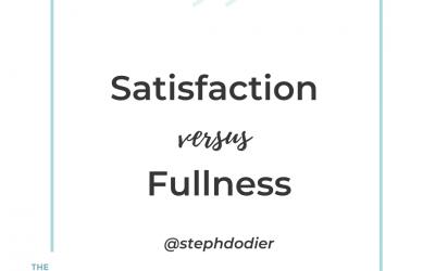 259-Satisfaction versus Fullness