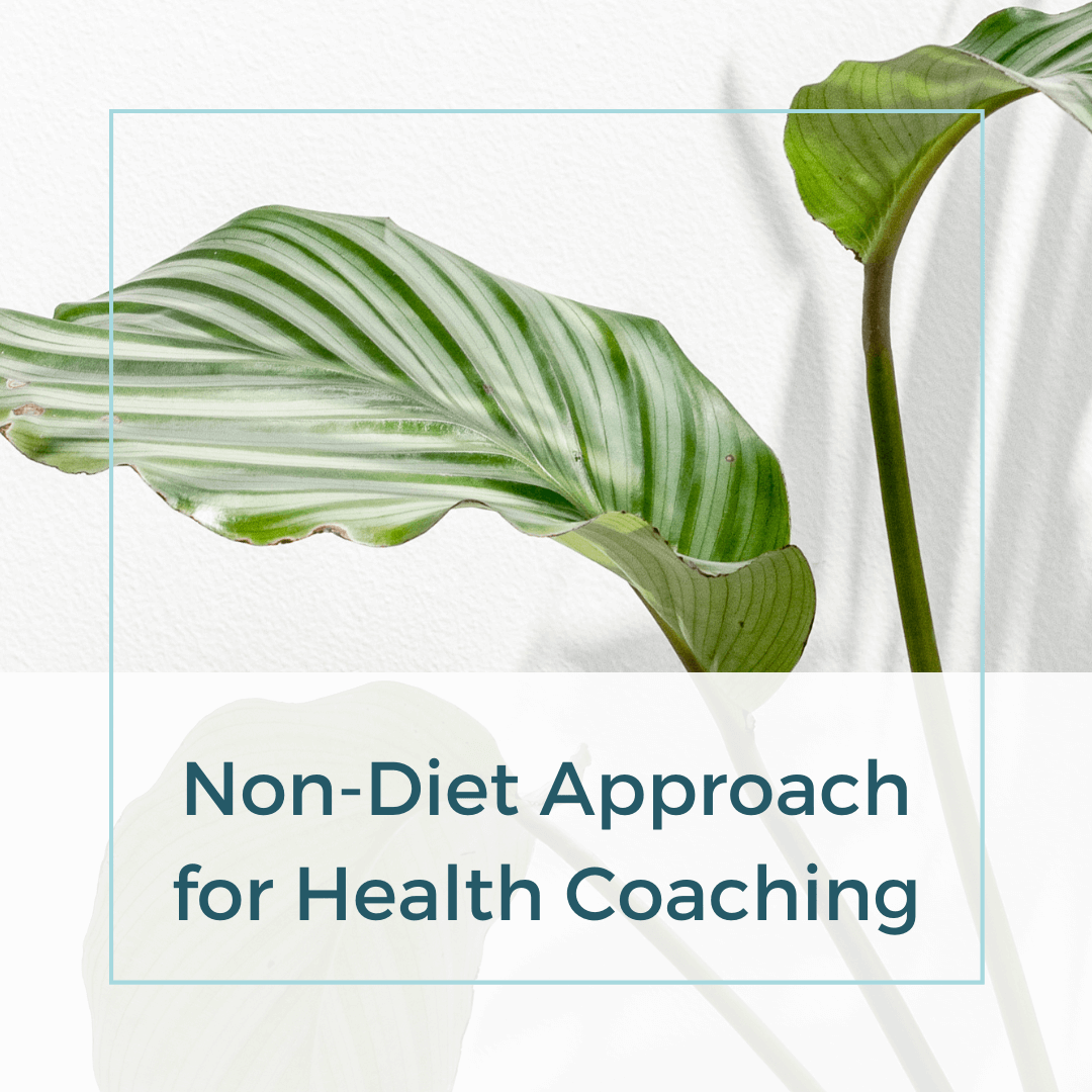 Non-Diet Approach for Health coaching