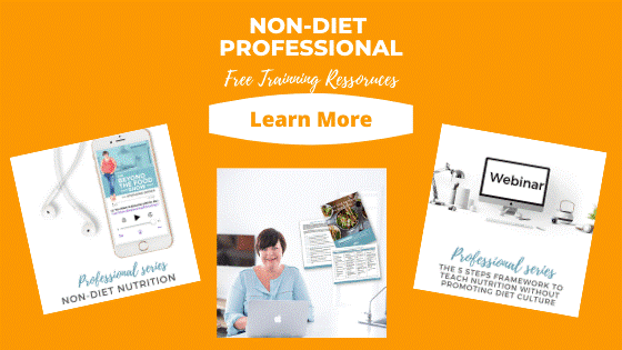 Non-diet professional free training resources