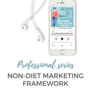 Non-Diet Marketing Framework