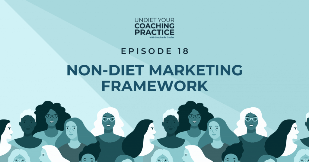 framework of non-diet marketing